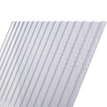 Damwandplaat PVC Glashelder Type N 250 x 109 cm
