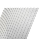122 x 116 cm Polyester Damwandplaat Transparant Type L 107/19