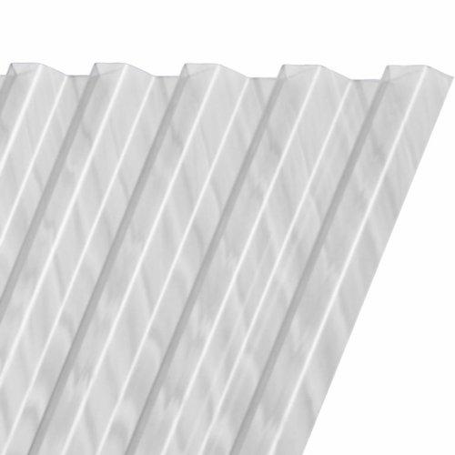 116 x 153 cm Polyester Damwandplaat Transparant Type L 107/19