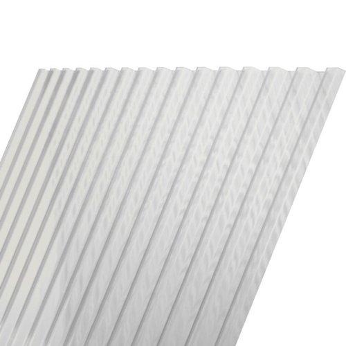 275 x 116 cm Polyester Damwandplaat Transparant Type L 107/19