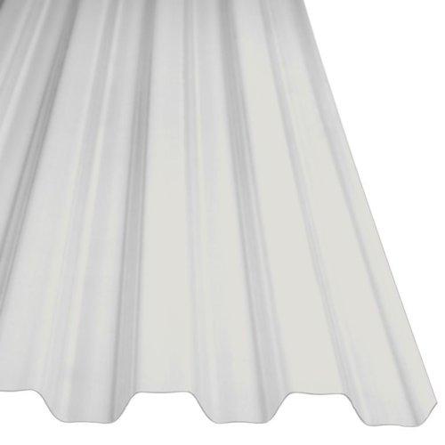 116 x 428 cm Polyester Damwandplaat Transparant Type L 107/19