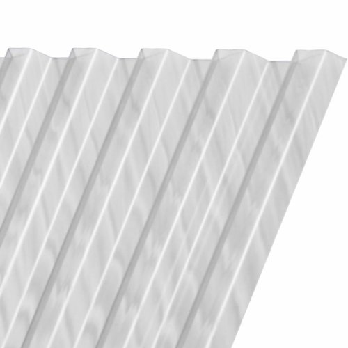 428 x 116 cm Polyester Damwandplaat Transparant Type L 107/19