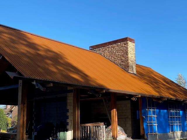 Cortenstaal dak