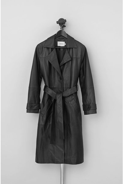 Terra Leather Trench