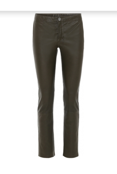 Straight fit leather trousers