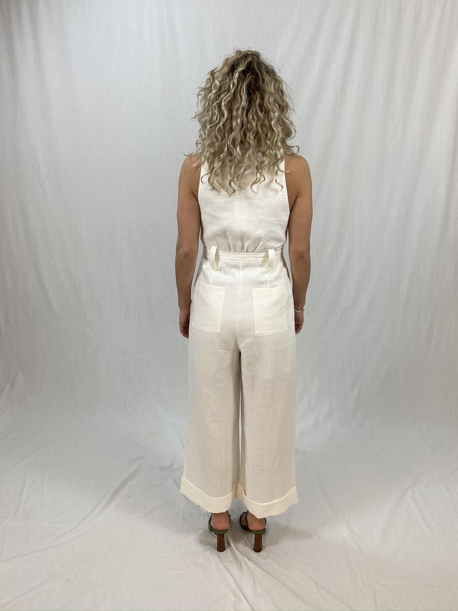 Savannah Linen Tailored Jumpsuit-4