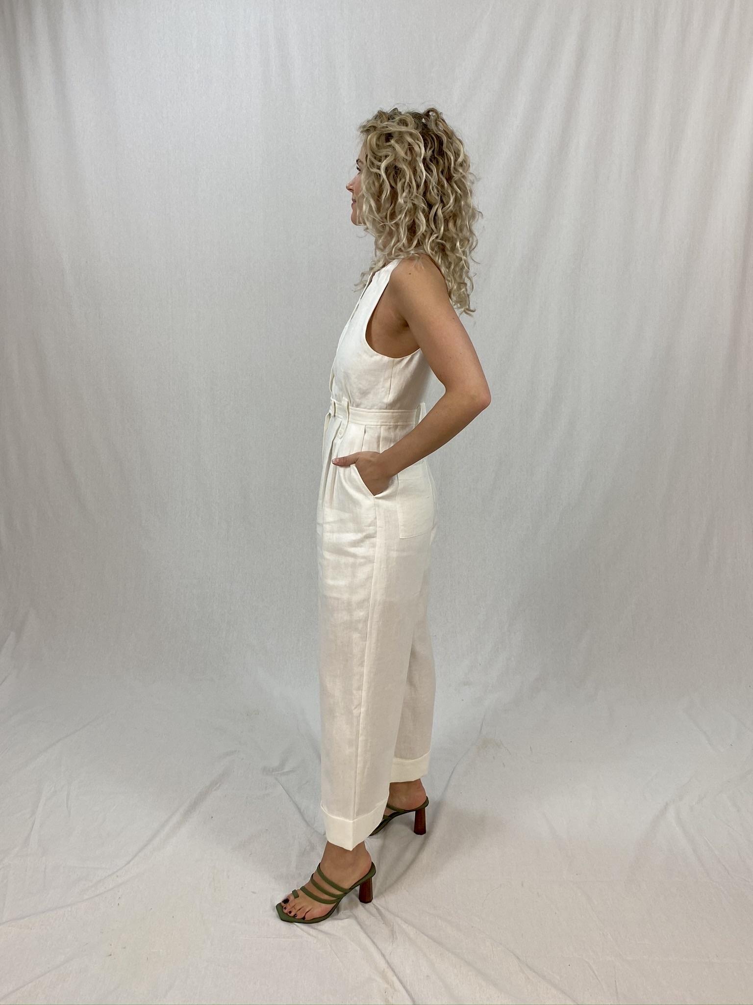 Savannah Linen Tailored Jumpsuit-5