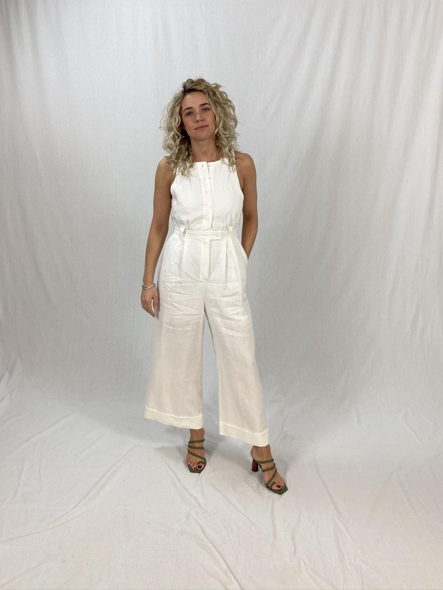 Savannah Linen Tailored Jumpsuit-3