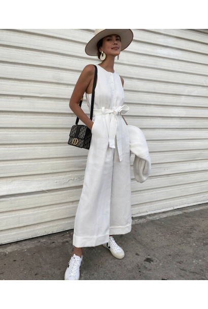 Savannah Linen Tailored Jumpsuit