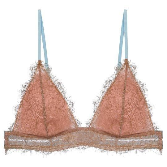 Triangle lace bra-1