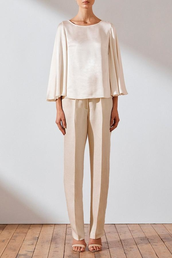 Circle sleeve blouse-6