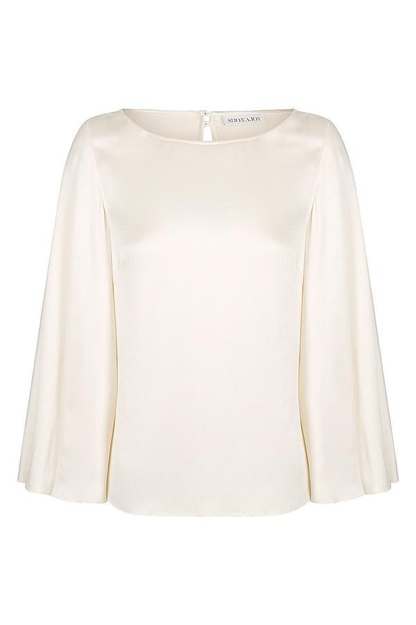 Circle sleeve blouse-5