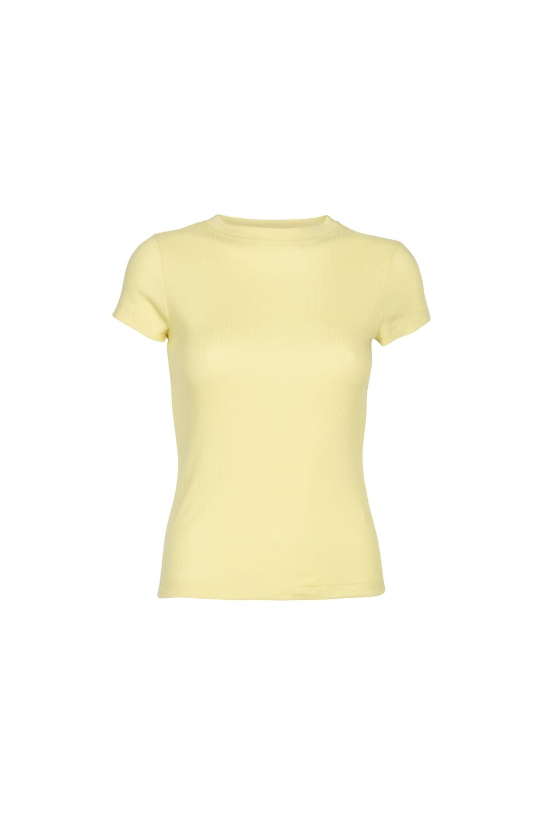 Flora rib t-shirt-1