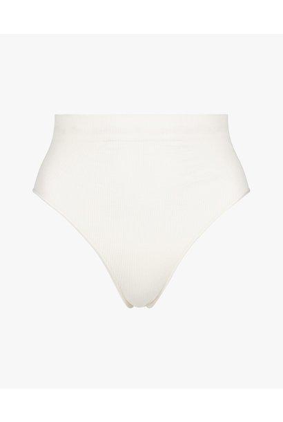 Rib high waist panties