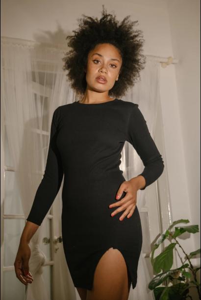 Long Sleeve Slit Dress