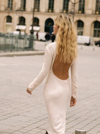 RR Marcel Sequin Backless Dress