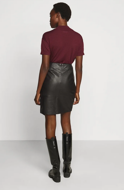 Abigale Leather Skirt-4