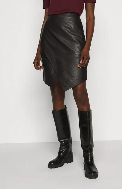 Abigale Leather Skirt-3