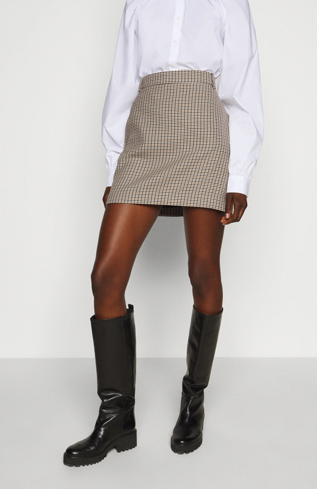Chariton Check Skirt-4