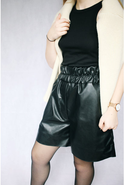 Solar Faux Leather Shorts