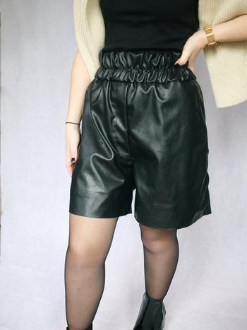 RR Solar Faux Leather Shorts