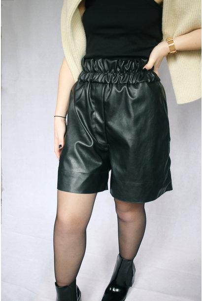 Solar Faux Leather Shorts