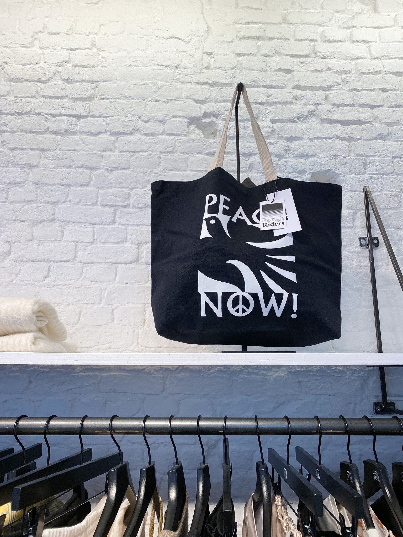 Peace Now Tote Bag-1