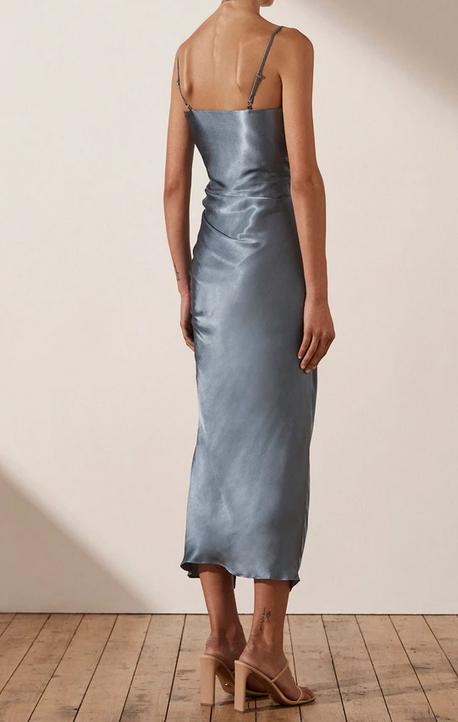 Lily Ruched Midi Dress-3