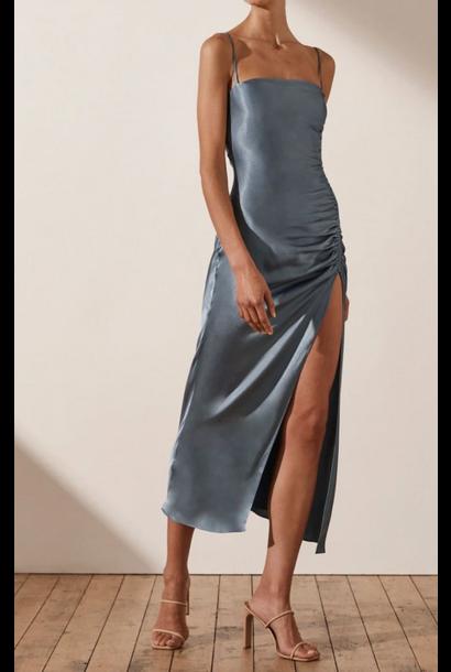 Lily Ruched Midi Dress