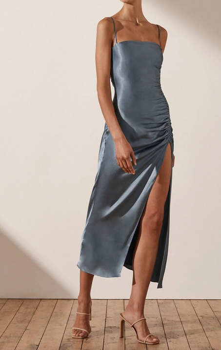 Lily Ruched Midi Dress-1