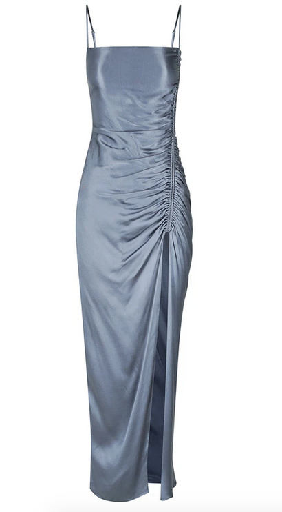 Lily Ruched Midi Dress-4