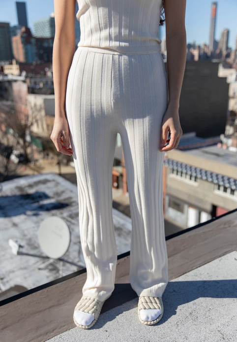 Dale Ribbed Knit Trousers-4