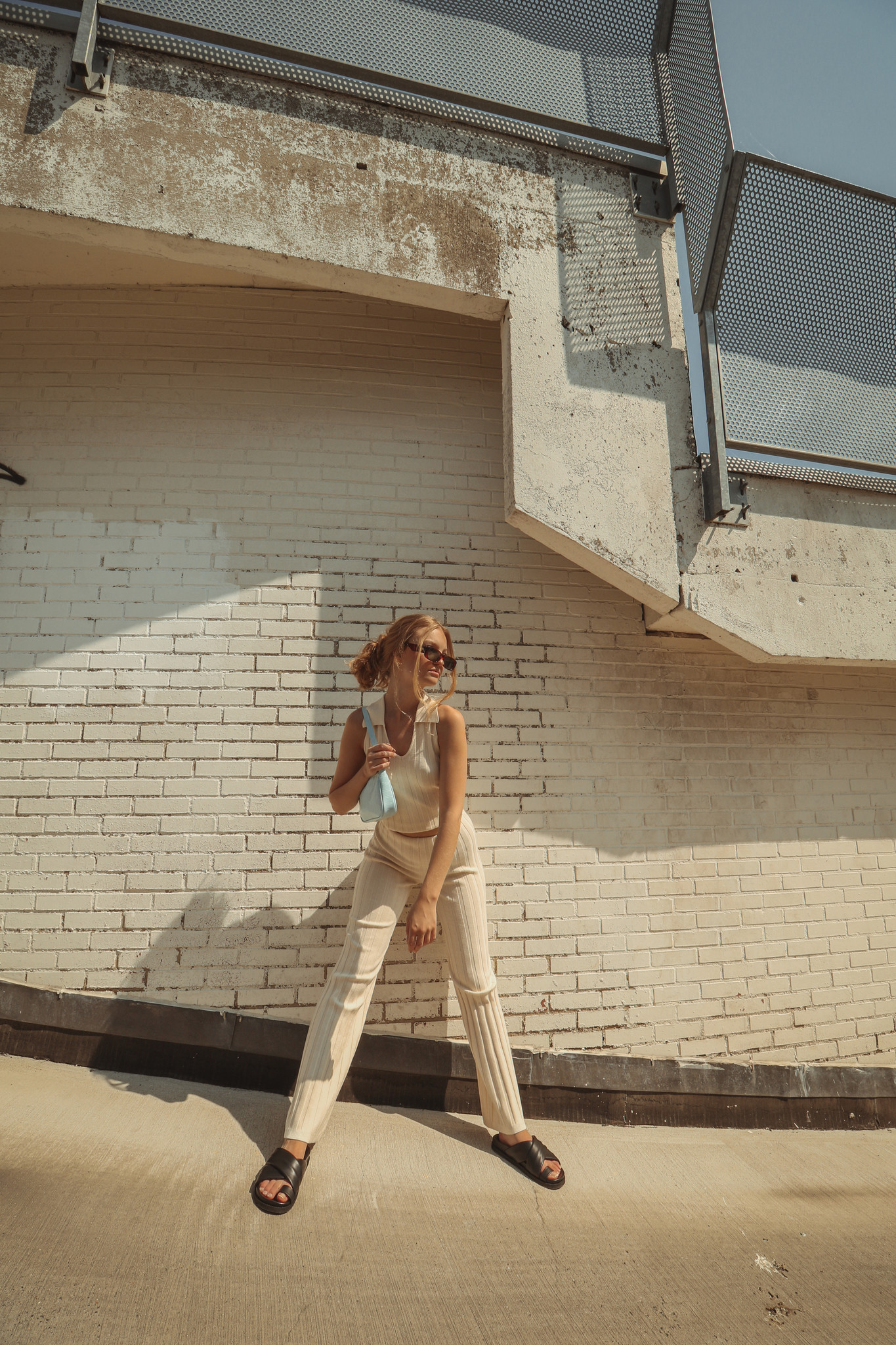 Dale Ribbed Knit Trousers-2
