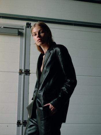 RR Barnett Leather Blazer