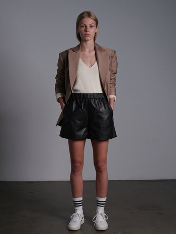 RR Clay Leather Shorts