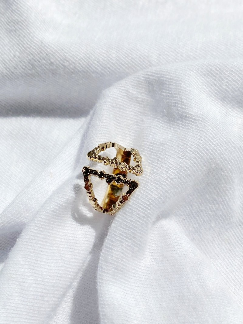 RR Double Triangle Ring