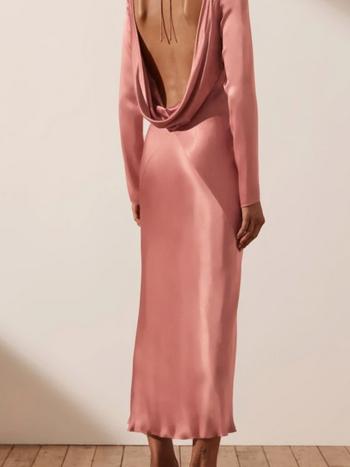 RR Eloise long sleeve backless dress