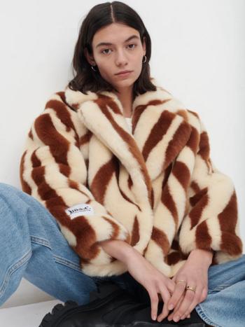 RR Rita Faux Fur Oversized Jacket