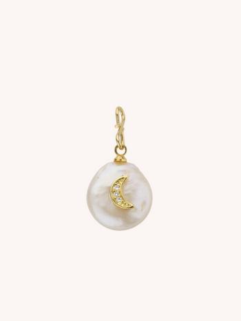 RR Pearl Moon Pendant