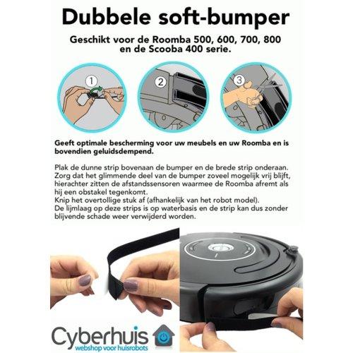 Cyberhuis Soft bumper zwart dubbel