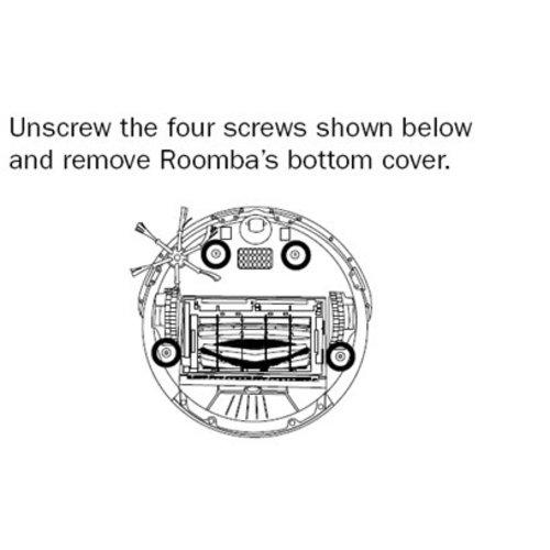 iRobot Roomba 500 onderplaat