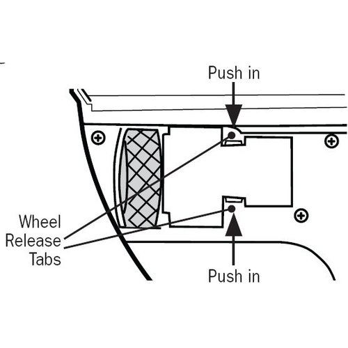iRobot Scooba wiel (2 stuks)
