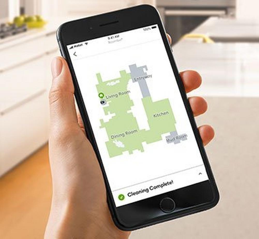 Afbeelding van de irobot app op een smartphone