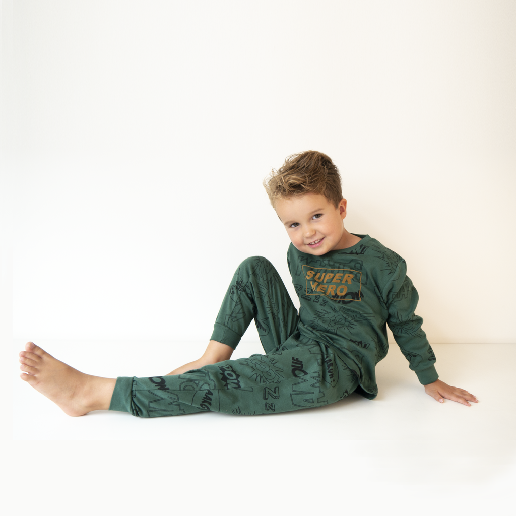 Frogs and Dogs PJ's Superheld Pyjama Groen Frogs and Dogs PJ's