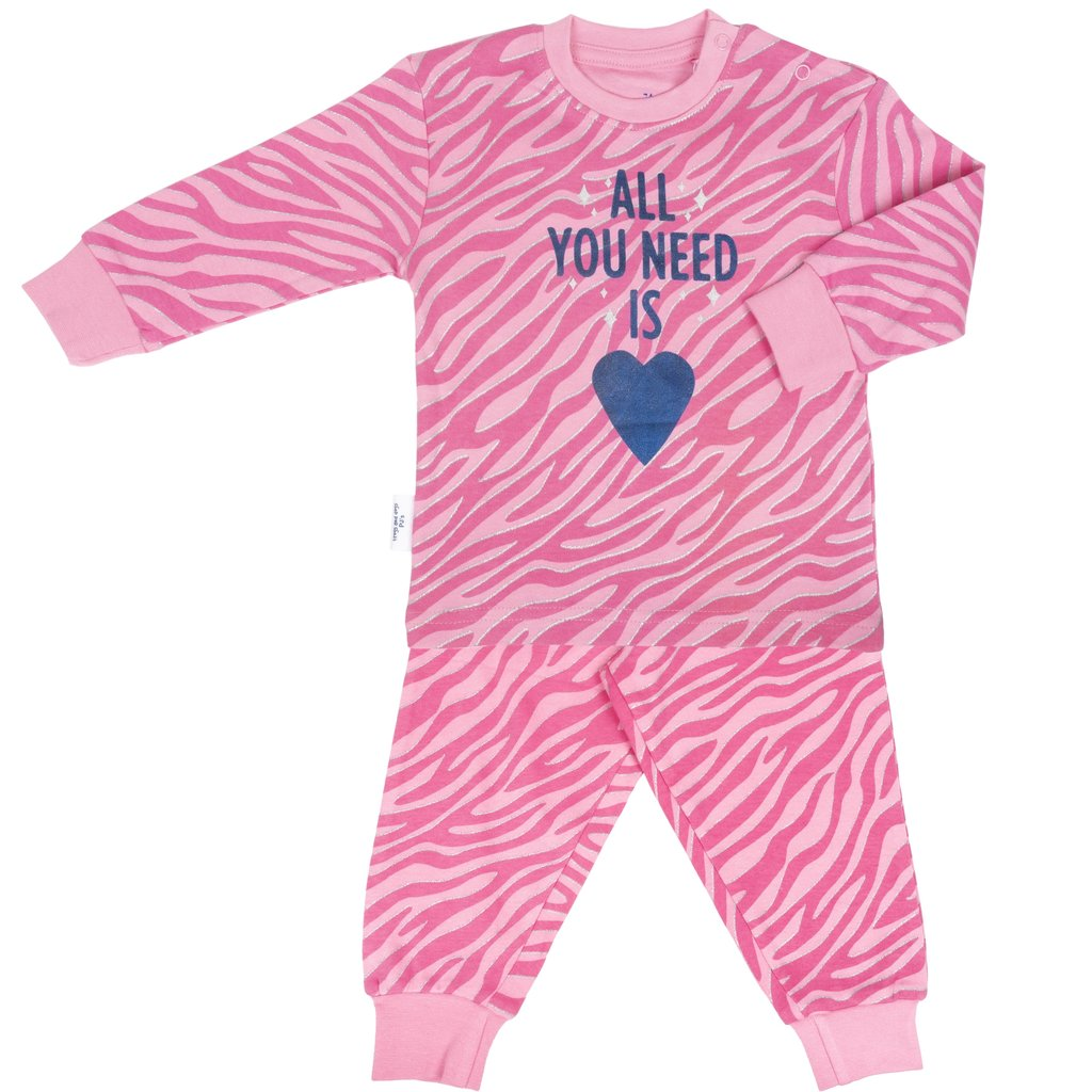 Frogs and Dogs PJ's Pyjama All You Need AOP Roze