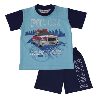 Fun2Wear Police Shortama Fun2Wear Jongens Blauw
