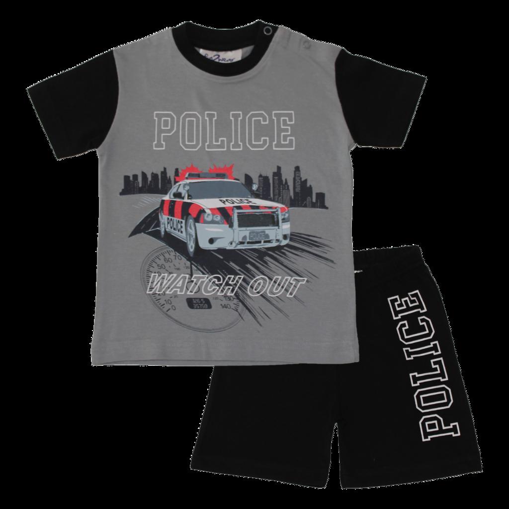 Fun2Wear Police Shortama Fun2Wear Jongens Grijs