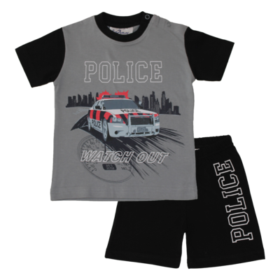 Fun2Wear Police Shortama Fun2Wear Jongens Grijs