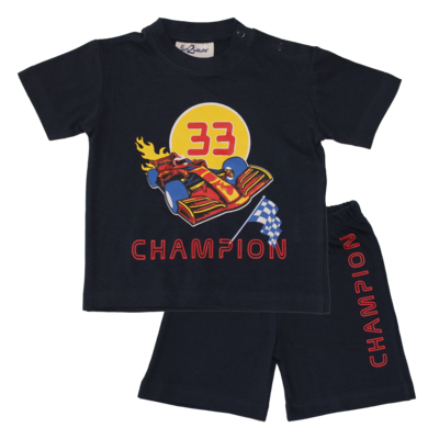 Fun2Wear Champion Shortama Fun2Wear Jongens Meisjes Navy