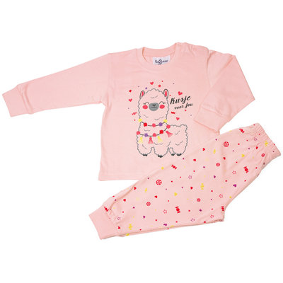 Fun2Wear Alpaca Pyjama Fun2Wear Meisjes Roze